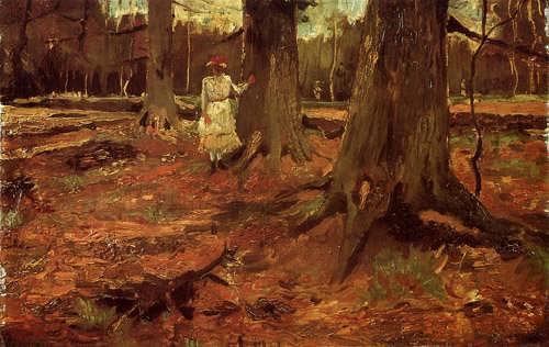 Gogh-GirlinWhiteintheWoods