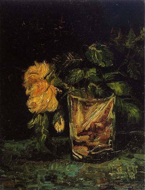 Gogh-GlasswithRoses