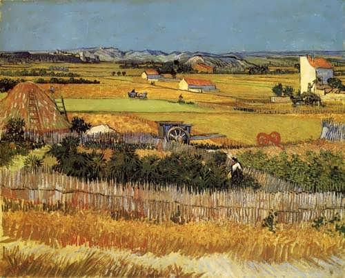Gogh-HarvestLandscapewithBlueCart