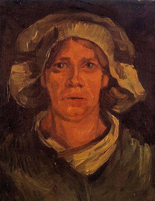 Gogh-HeadofaPeasantWomanWithwhiteCap