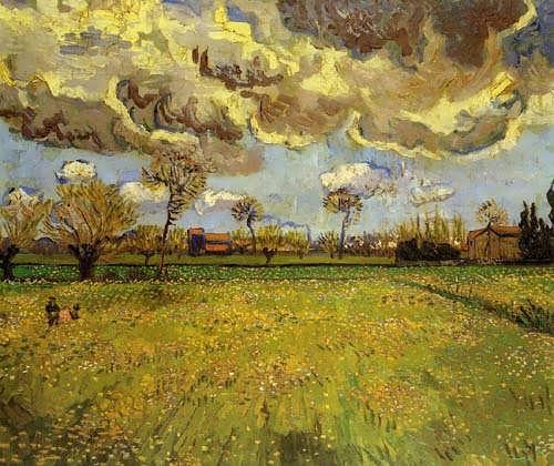 Gogh-LandscapeunderaStormySky