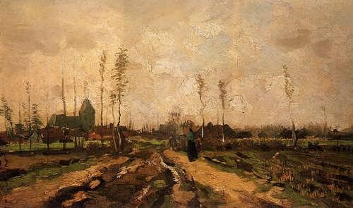 Gogh-LandscapewithChurchandFarms