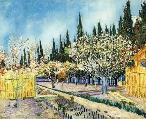 Gogh-OrchardSurroundedbyCypresses