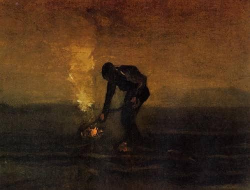 Gogh-PeasantBurningWeeds