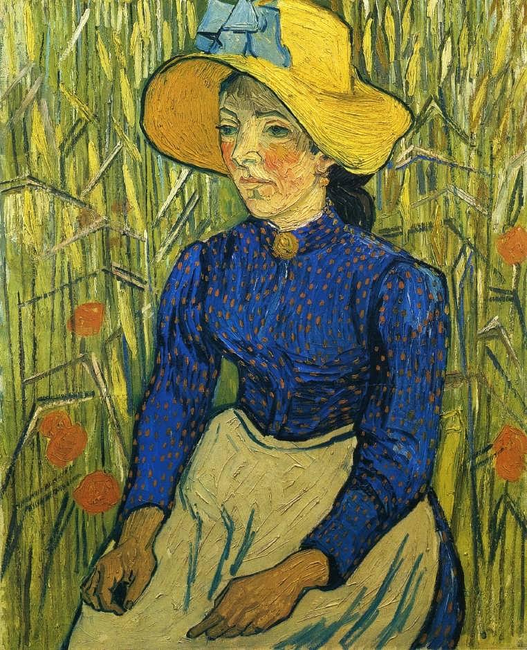 Gogh-PeasantGirlwithYellowStrawHat
