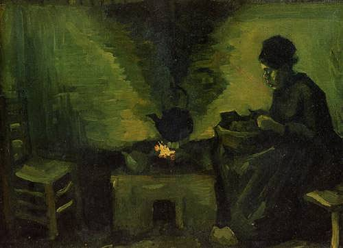Gogh-PeasantWomanbytheFireplace