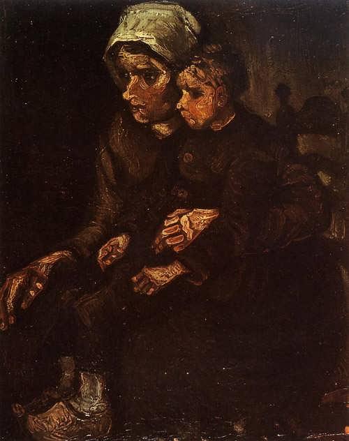 Gogh-PeasantWomanwithaChildinHerLap