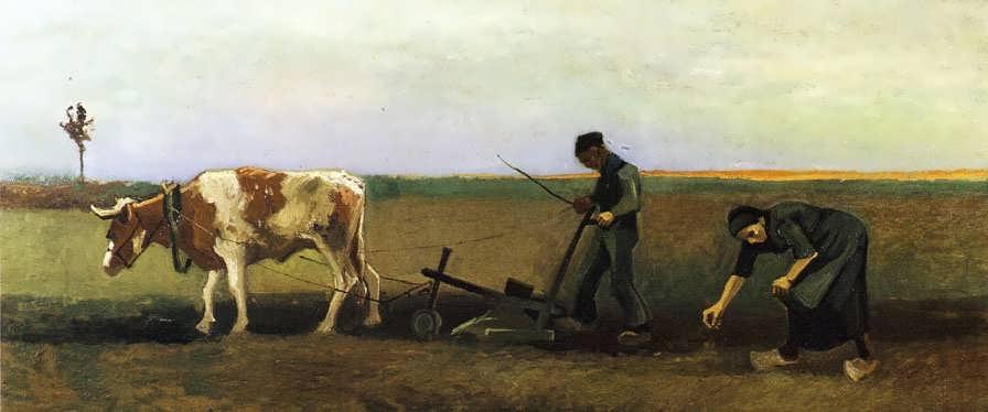 Gogh-PloughmanwithWomanPlantingPotatoes