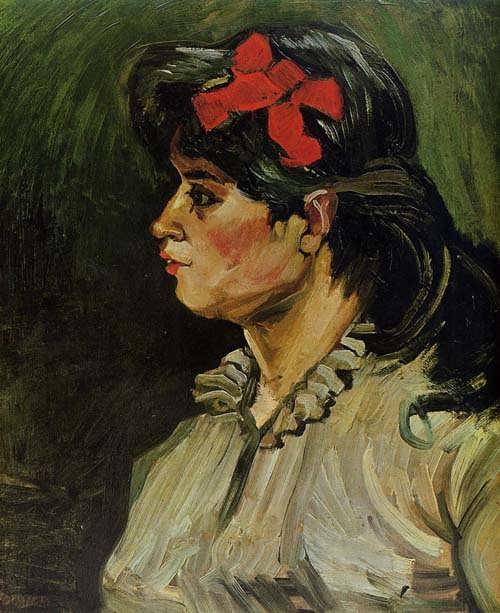 Gogh-PortraitofaWomanwithaRedRibbon