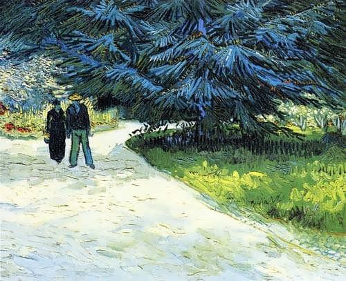 Gogh-PublicGardenwithCoupleandBlueFirTree