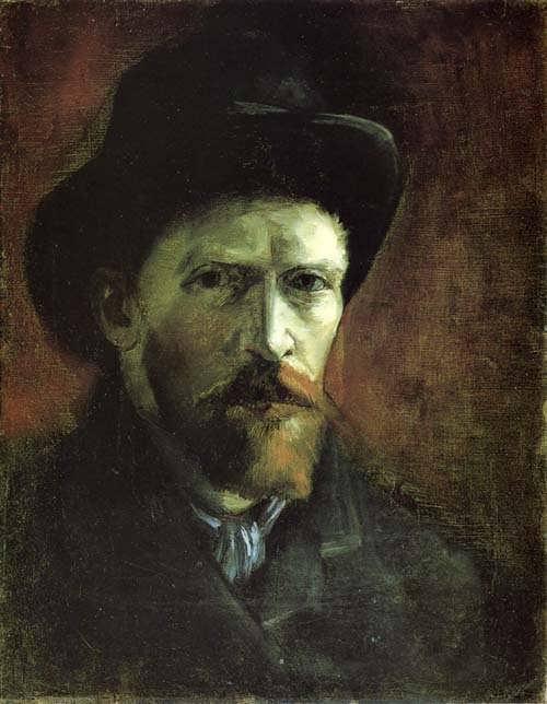Gogh-SelfPortraitinaDarkFeltHat