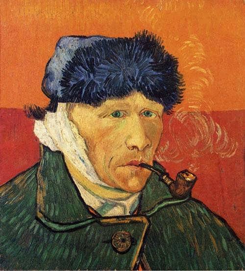 Gogh-SelfPortraitwithBandagedEarandPipe