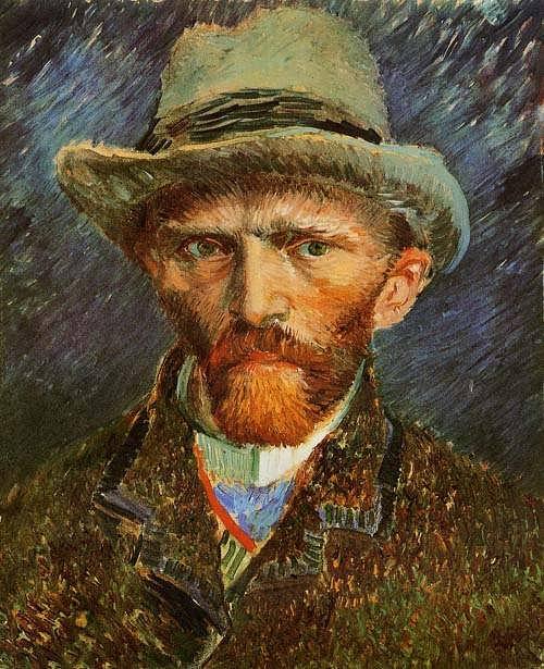 Gogh-SelfPortraitwithaGreyFeltHat
