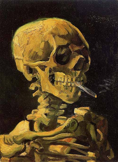 Gogh-SkullwithBurningCigarette