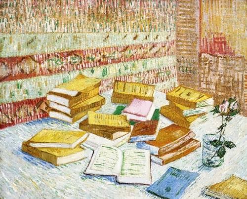 Gogh-StillLifewithBooksRomansParisiens