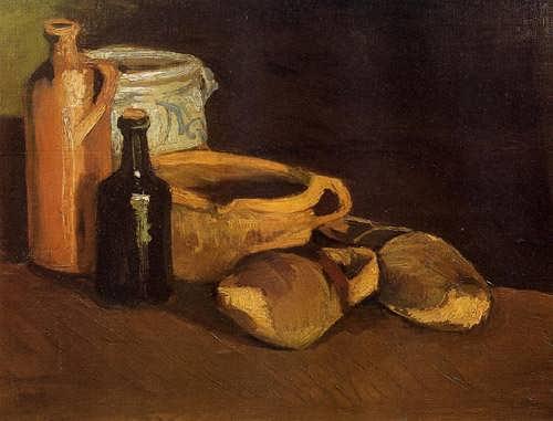 Gogh-StillLifewithClogsandPots