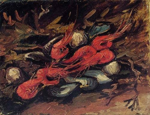 Gogh-StillLifewithMusselsandShrimp