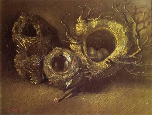 Gogh-StillLifewithThreeBirdsNests