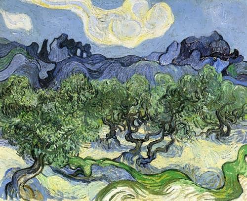 Gogh-TheAlpilleswithOliveTreesintheForeground