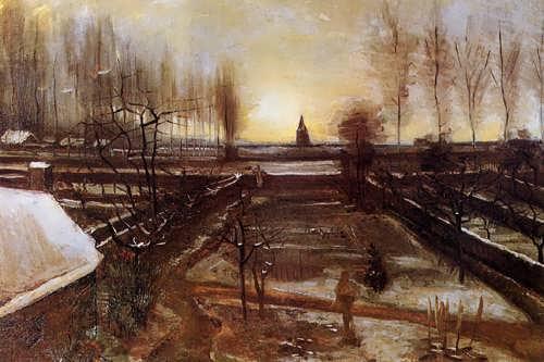 Gogh-TheParsonageGardenatNuenenintheSnow