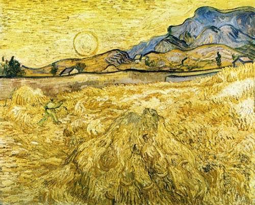 Gogh-TheReaperakaEnclosedFieldwithReaper