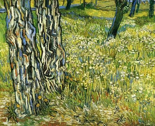 Gogh-TreeTrunksintheGrass