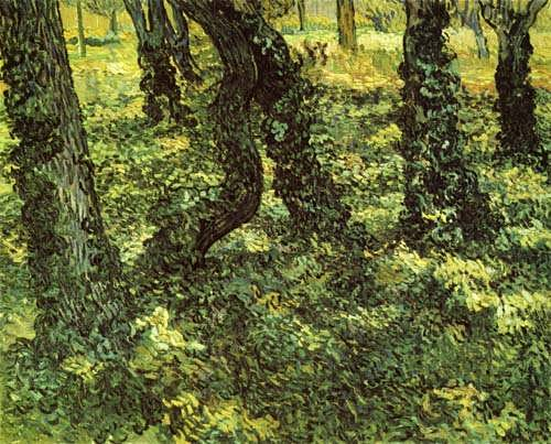 Gogh-TrunksofTreeswithIvy
