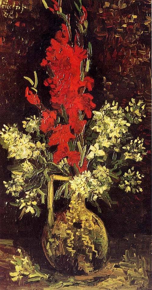 Gogh-VasewithGladioliandCarnations