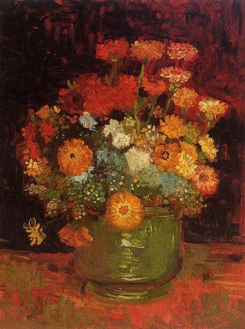 Gogh-VasewithZinnias