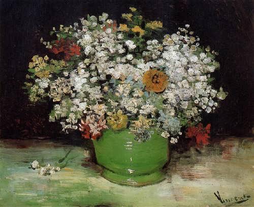 Gogh-VasewithZinniasandOtherFlowers