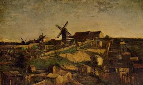 Gogh-ViewofMontmartrewithWindmills