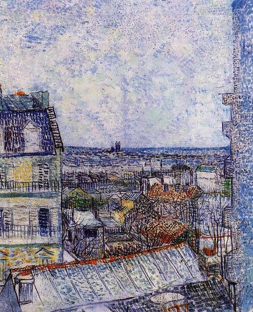 Gogh-ViewofParisfromVincentsRoomintheRueLepic