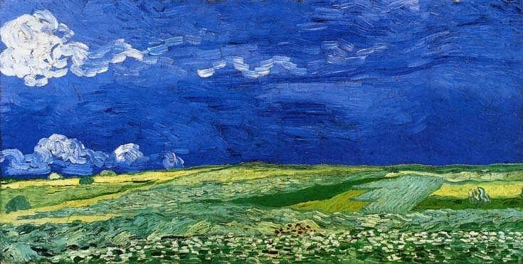 Gogh-WheatfieldsunderaCloudedSky