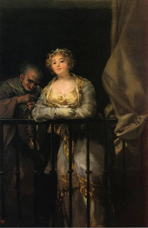 Goya-MajaandCelestinaonaBalcony1