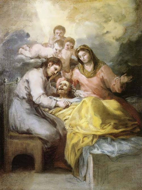 Goya-SketchforTheDeathofSaintJoseph