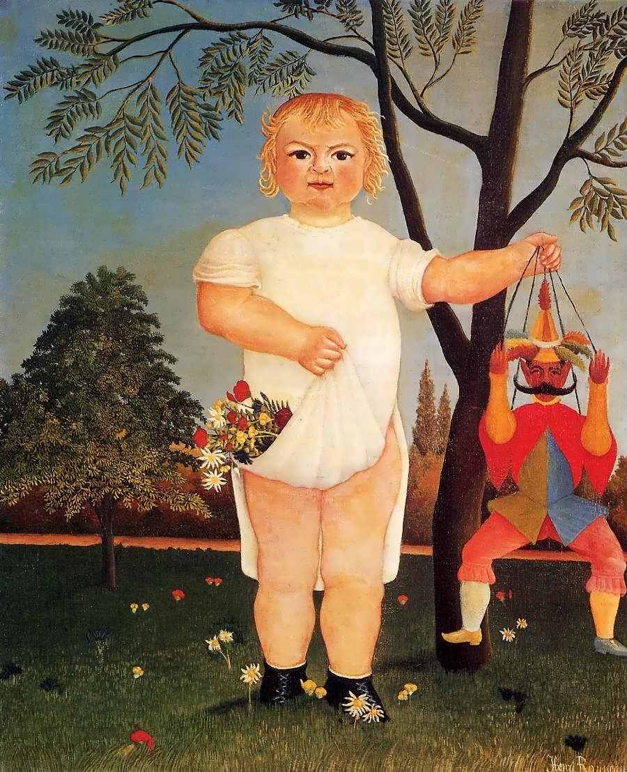 HenriRousseau-ChildwithPuppetakaToCelebratetheBaby1