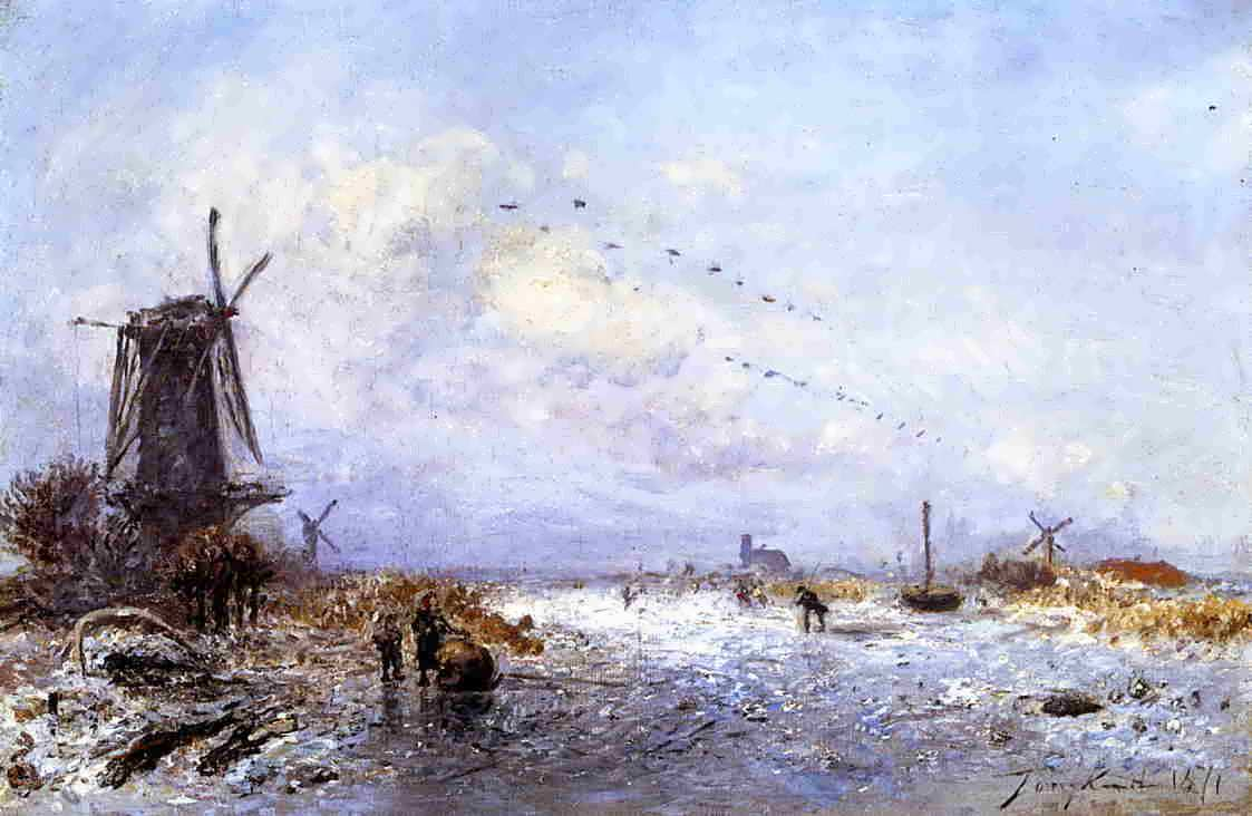 Johan-BertholdJongkind-WinterScene