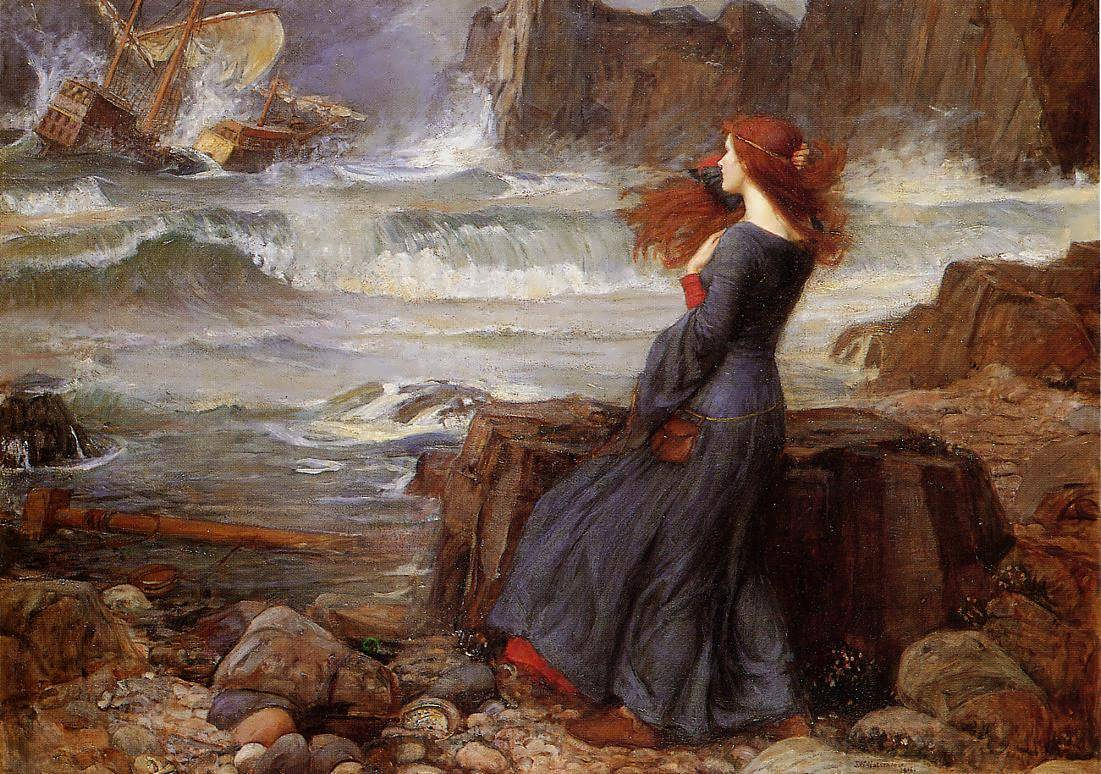 JohnWilliamWaterhouse-Miranda-theTempest2