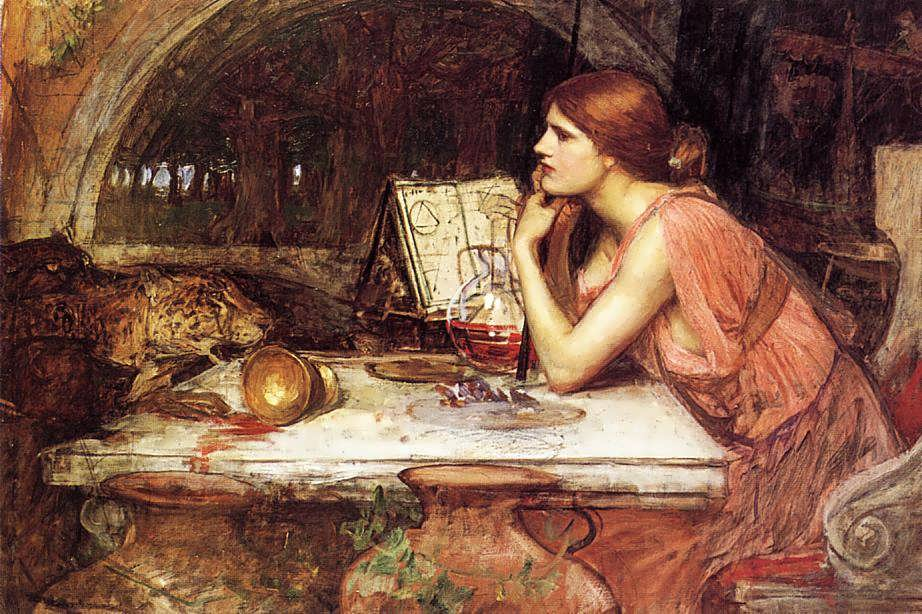 JohnWilliamWaterhouse-SketchofCirce1
