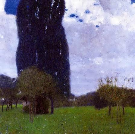 Klimt-TheTallPoplarTreesII