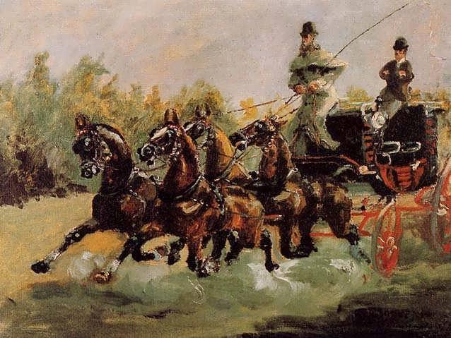 Lautrec-AlphonsedeToulouse-LautrecDrivingHisFour-in-Hand1