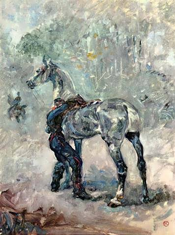 Lautrec-ArtillerymanSaddlingHisHorse