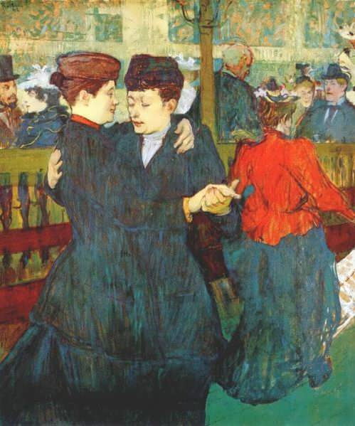 Lautrec-AttheMoulinRougeTwoWomenWaltzing