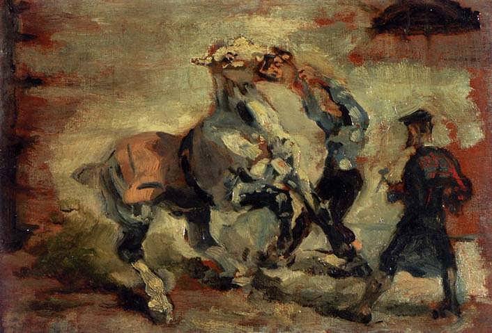 Lautrec-HorseFightingHisGroom