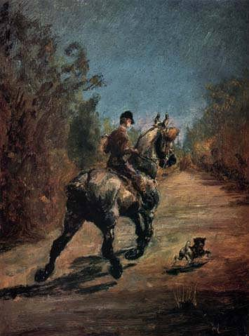 Lautrec-HorseandRiderwithaLittleDog