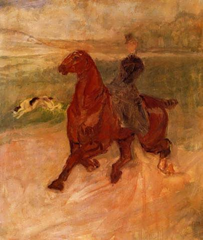 Lautrec-HorsewomanandDog