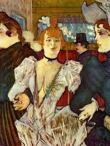 Lautrec-LaGoulueArrivingattheMoulinRougewithTwoWomen