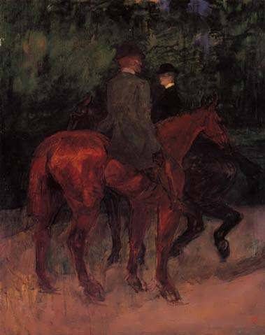 Lautrec-ManandWomanRidingthroughtheWoods