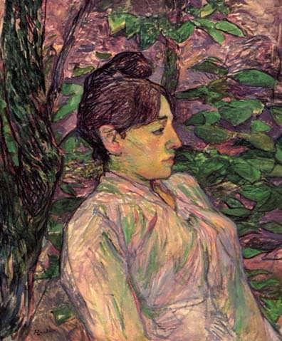 Lautrec-WomanSeatedinaGarden
