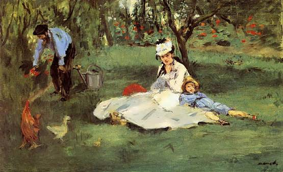 Manet-TheMonetFamilyintheGarden